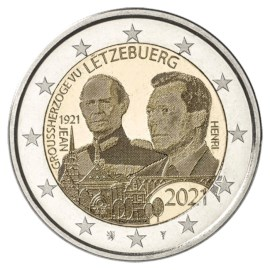 """Luxembourg 2 Euro """"Jean"""" 2021 (relief version)"""