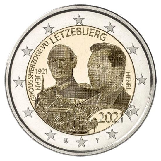"""Luxemburg 2 Euro """"Jean"""" 2021 (foto-versie)"""