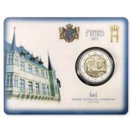 """Luxembourg 2 Euro """"Jean"""" 2021 Coincard"""