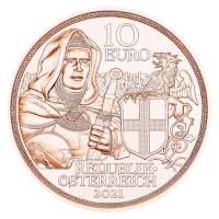 """Oostenrijk 10 Euro """"Broederschap"""" 2021 UNC"""