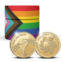 25 Years of Pride Amsterdam Medal Gold 2 Ounces