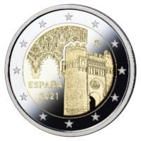"""Spanje 2 Euro """"Toledo"""" 2021 Proof"""