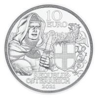 """Oostenrijk 10 Euro """"Broederschap"""" 2021 Zilver BU"""