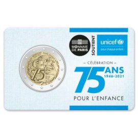 "France 2 Euro ""Unicef"" 2021 Coincard"
