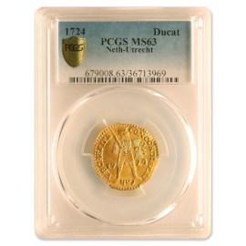 Gouden Dukaat Utrecht 1724 UNC