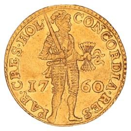Gouden Dukaat Holland 1760 ZFr+