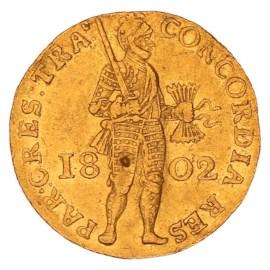 Gouden Dukaat Utrecht 1802 ZFr-
