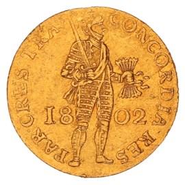 Gouden Dukaat Utrecht 1802 ZFr+