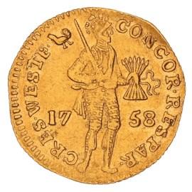 Gouden Dukaat West-Friesland 1758 ZFr+