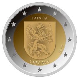 """Latvia 2 Euro """"Latgale"""" 2017"""