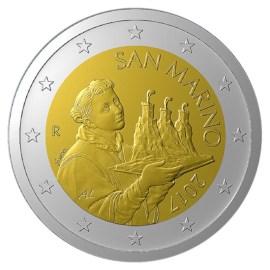 San Marino 2 Euro 2021 UNC