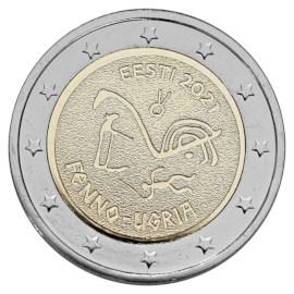 """Estland 2 Euro """"Fins-Oegrische Volkeren"""" 2021"""