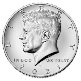 """US Half Dollar """"Kennedy"""" 2021 D"""