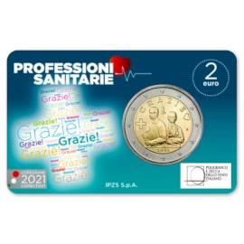 "Italië 2 Euro ""Grazie"" 2021 BU Coincard"