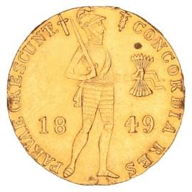 Gouden Dukaat Willem III 1849 ZFr