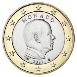 Monaco 1 Euro 2021 UNC