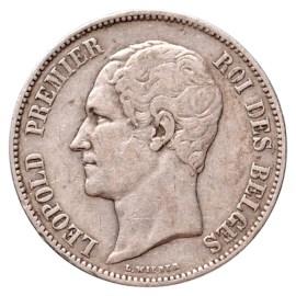 5 Francs 1858 - Léopold I TTB