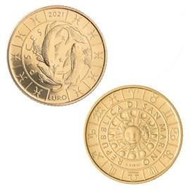 """San Marino 5 Euro """"Pisces"""" 2021"""
