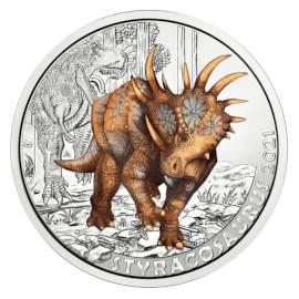 """Austria 3 Euro """"Styracosaurus"""" 2021"""