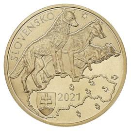 "Slowakije 5 Euro ""Wolf"" 2021"
