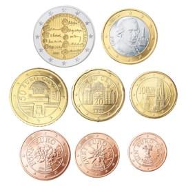 """Oostenrijk UNC Set 2005 met 2 Euro """"Staatsverdrag"""""""