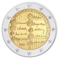 """Austria UNC Set 2005 with 2 Euro """"State Treaty"""""""