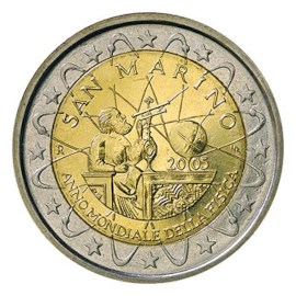 "San Marino 2 Euro ""Galilei"" 2005"