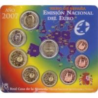 "Spain BU Set 2007 with 2-Euro ""Rome"""