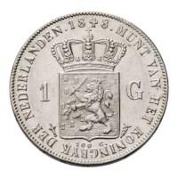 1 Gulden 1848 Willem II Pr