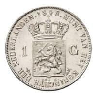 1 Gulden 1848 Willem II Pr-