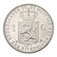 1 Gulden 1901 Wilhelmina ZFr+