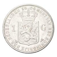 1 Gulden 1904 Wilhelmina ZFr+