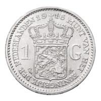 1916 1 gulden Pr Wilhelmina