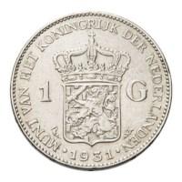1 Gulden 1931 Wilhelmina ZFr