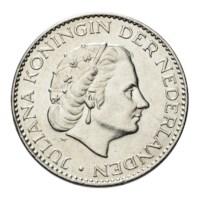 1 Gulden 1958 Juliana Pr+