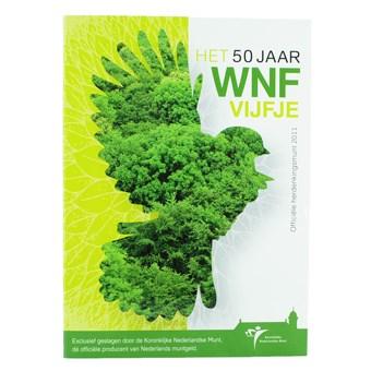 50 jaar wereld natuur fonds munt 5 Euro 2011 50 jaar Wereldnatuurfonds Proof 50 jaar wereld natuur fonds munt