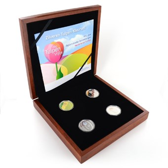 Zilveren Tulpen Kleurset 2012 Proof