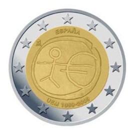 """Spanje 2 Euro """"10 Jaar EMU"""" 2009"""