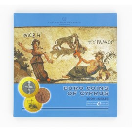 "Cyprus BU Set 2009 with 2 euro ""10 Years EMU"""