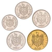 Moldova UNC Set 2004-2008