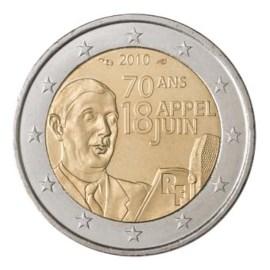 """Frankrijk 2 Euro """"De Gaulle"""" 2010"""