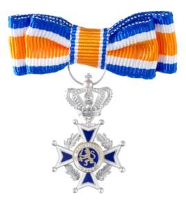 Miniatuur Oranje Nassau Civiel Lid Dames in etui