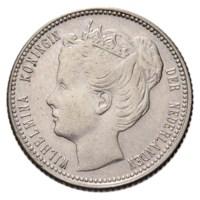 25 Cent 1901 Wilhelmina ZFr+