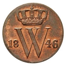 1/2 Cent 1846 Willem II FDC