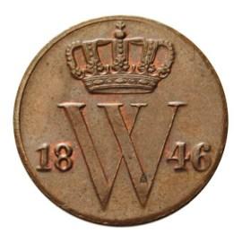 1/2 Cent 1846 Willem II Pr