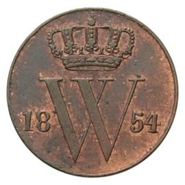 ½ Cent 1854 Willem III Pr+