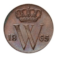 1/2 Cent 1865 Willem III FDC-