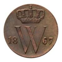 1/2 Cent 1867 Willem III Pr