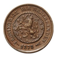 1/2 Cent 1878 Willem III ZFr