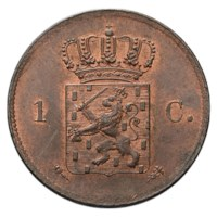 1 Cent 1821 Willem I FDC